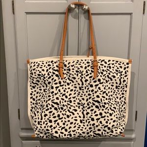 Anthropologie Leopard Tote. NEW.